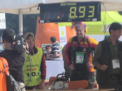 Gerhard Briechle побил собственный рекорд в замене цепи
